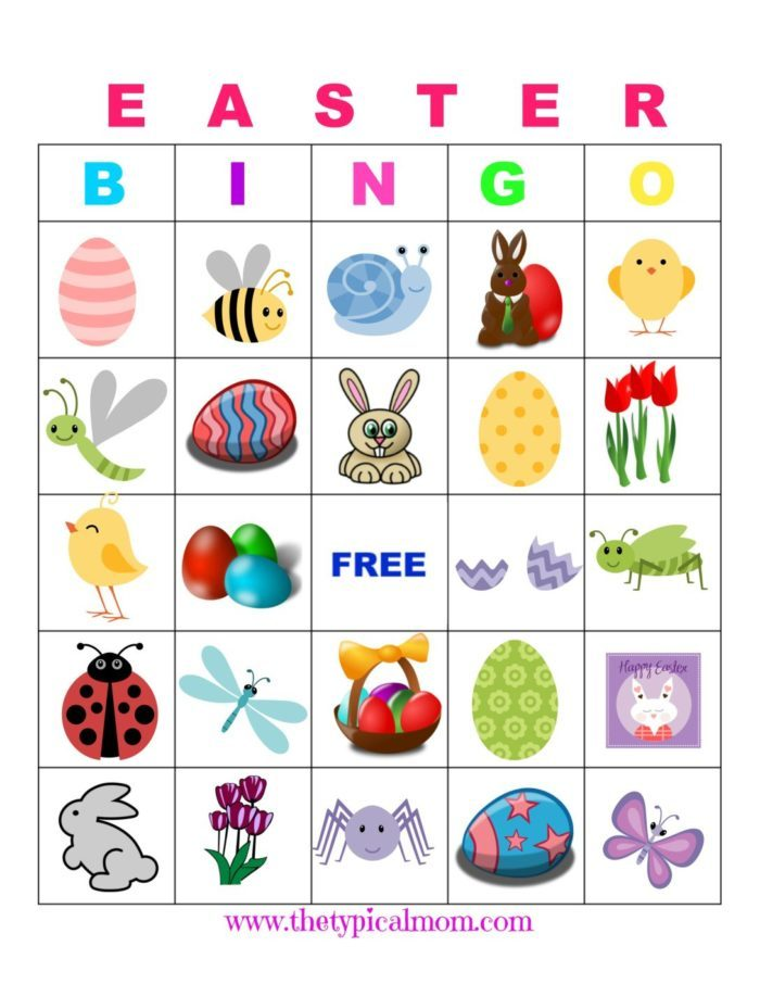 The typical mom. Bingo clipart easter
