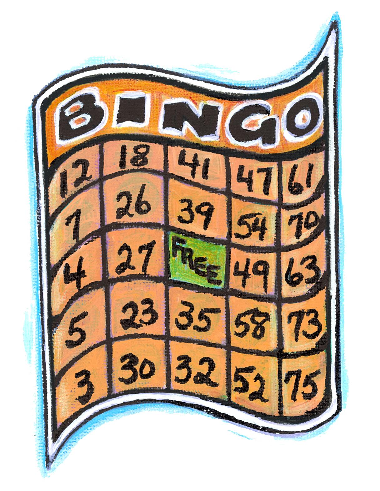 . Bingo clipart geriatric