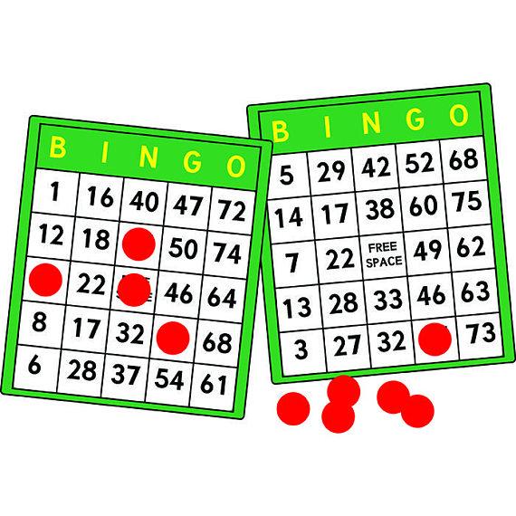 Card gambling gamble lottery. Bingo clipart green