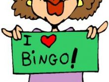 Bingo clipart green. Free clip art entertainment