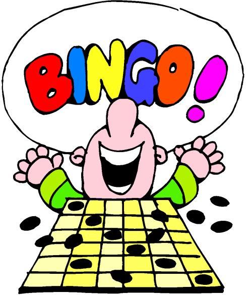 Playing . Bingo clipart green