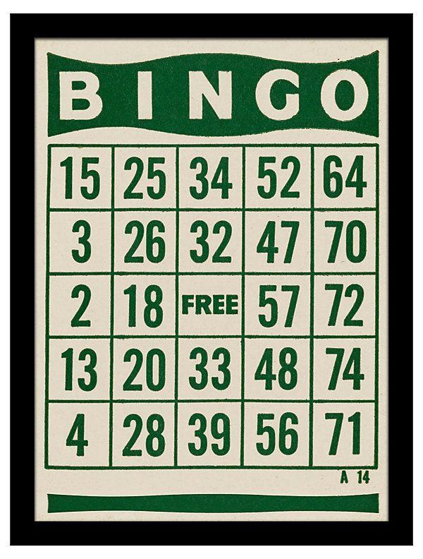 Bingo clipart green.  best ephemera everythings
