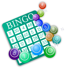 Bingo clipart green. Color wheel of
