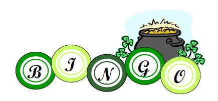 Bingo clipart green. Irish ticket bayrestoration org