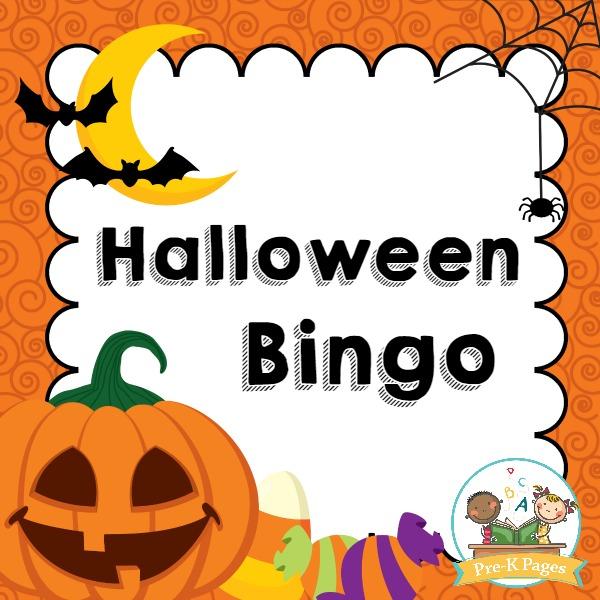 Pre k pages. Bingo clipart halloween