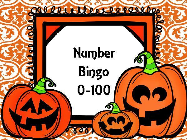Bingo clipart halloween. Number teacherlingo com