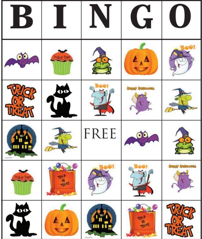 Printable sheets fun for. Bingo clipart halloween
