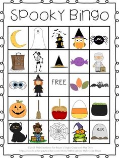 Freebie create your own. Bingo clipart halloween