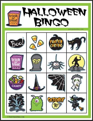 Bingo clipart halloween. Kid s image printable