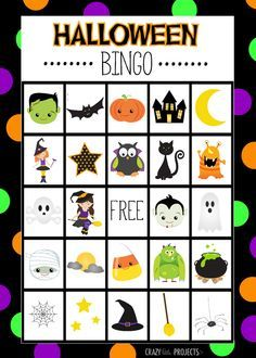 Bingo clipart halloween. Free printable game cards