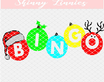 Bingo clipart holiday. Svg etsy christmas themed