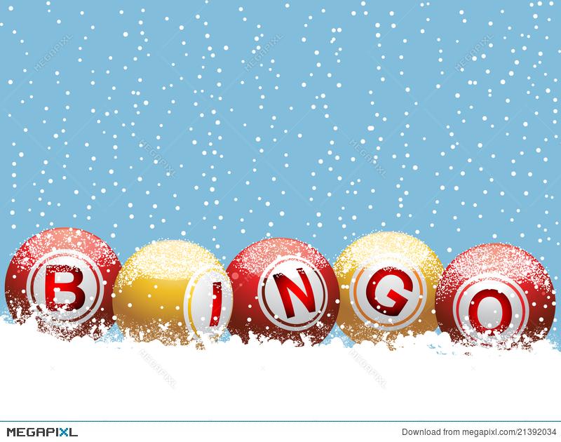 Christmas background illustration megapixl. Bingo clipart holiday
