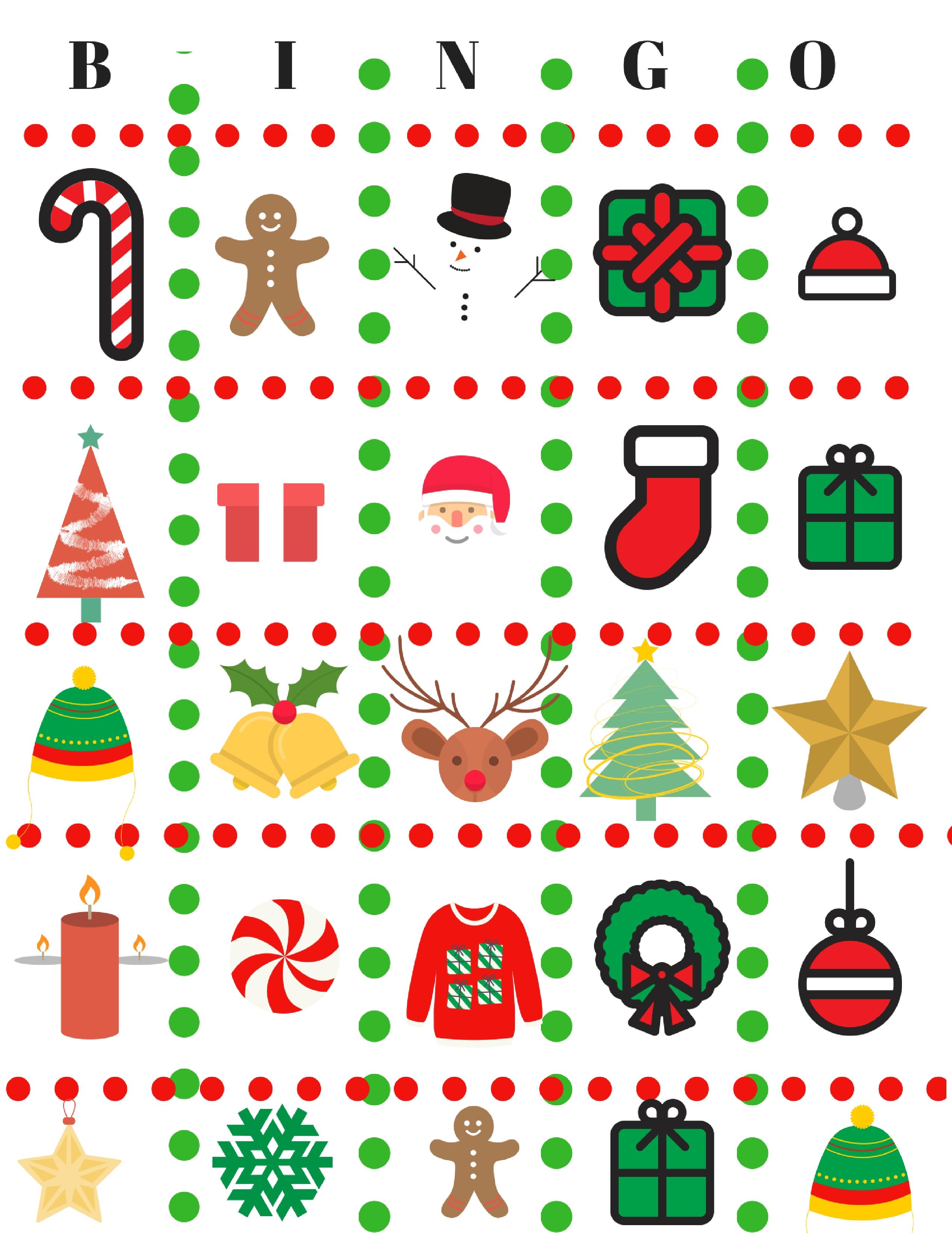 Diy christmas game free. Bingo clipart holiday