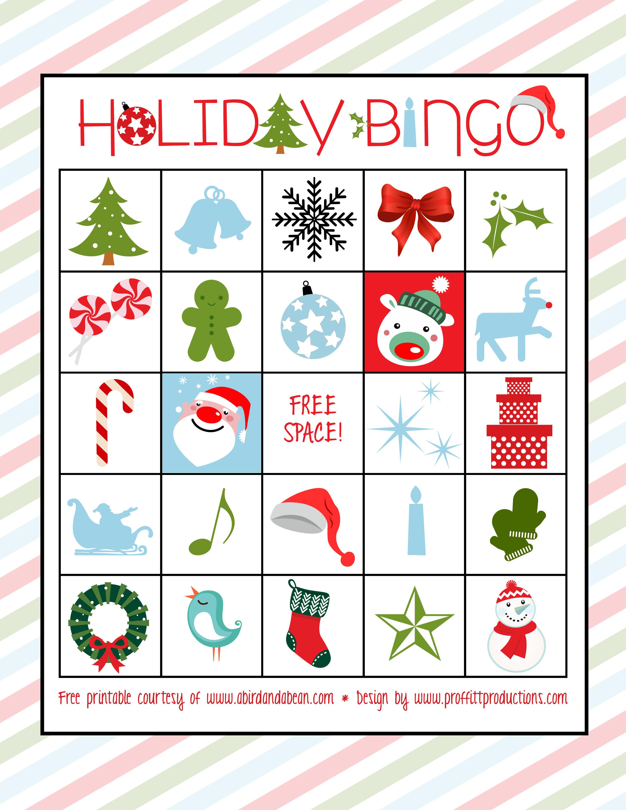Bingo clipart holiday. Christmas printables happy holidays