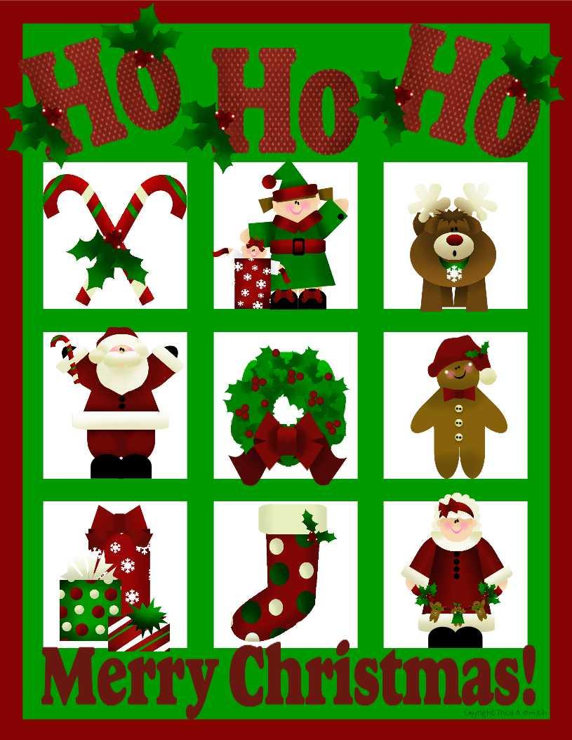 Christmas my heart home. Bingo clipart holiday