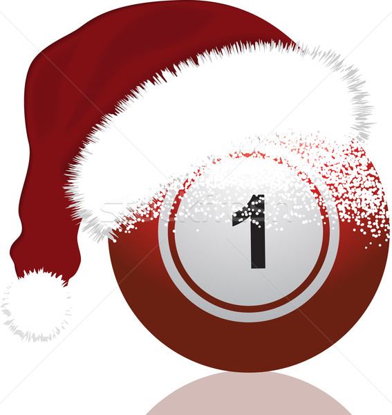 Bingo clipart holiday. Festive ball vector illustration