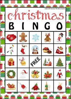 Bingo clipart holiday. Free printable christmas game