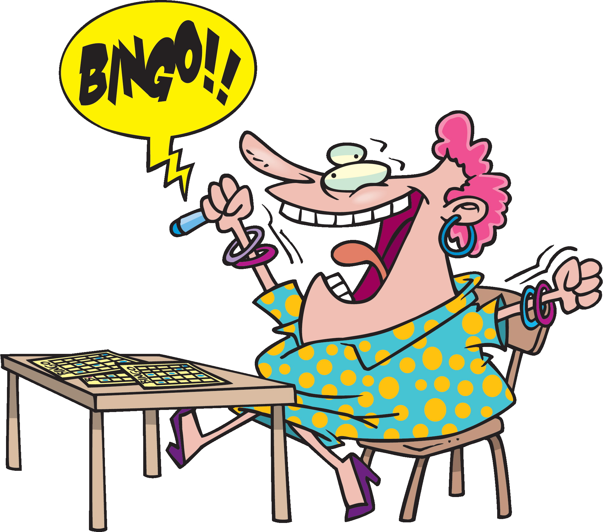 Players cliparts zone . Bingo clipart keyword