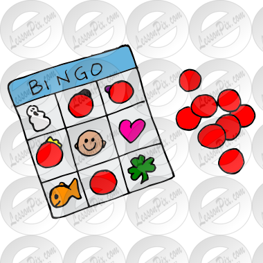 Bingo clipart keyword. Picture for classroom therapy