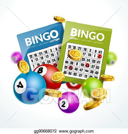 Vector art lottery balls. Bingo clipart keyword