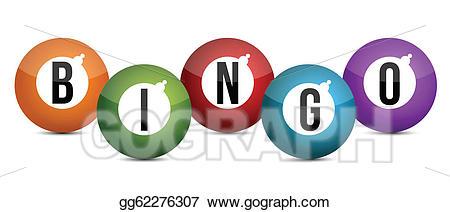 Eps vector brightly coloured. Bingo clipart keyword