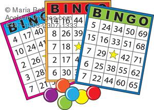 Bingo clipart keyword. Cards clip art illustration