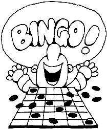 Cards clip art card. Bingo clipart line