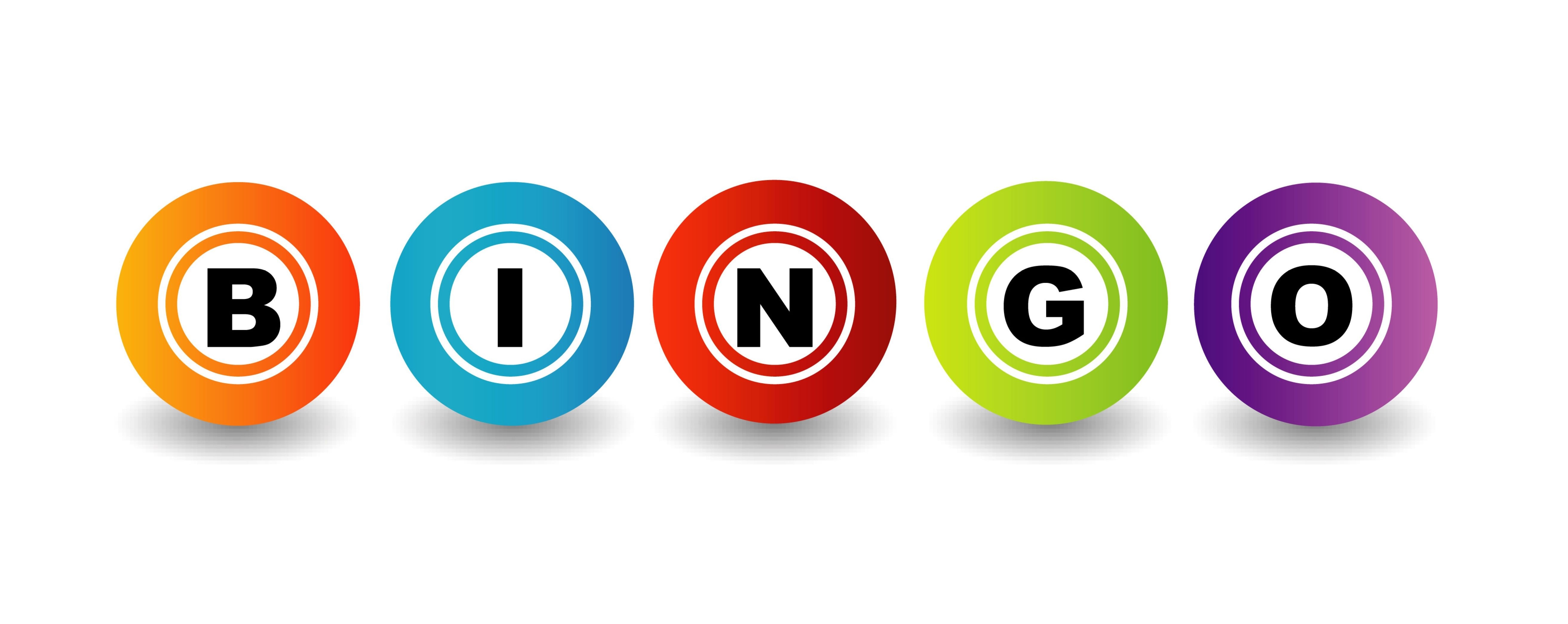Bingo clipart logo.  transparent with