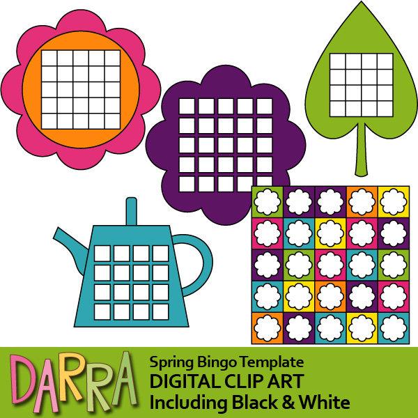 Template download gardening flower. Bingo clipart spring