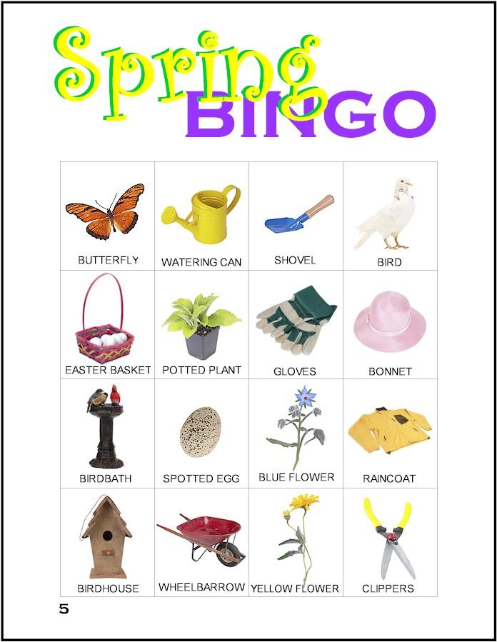 Card makingfriendsmakingfriends easterbingo. Bingo clipart spring