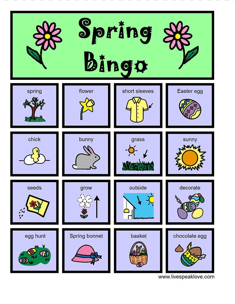 Bingo clipart spring. Card transparent background png