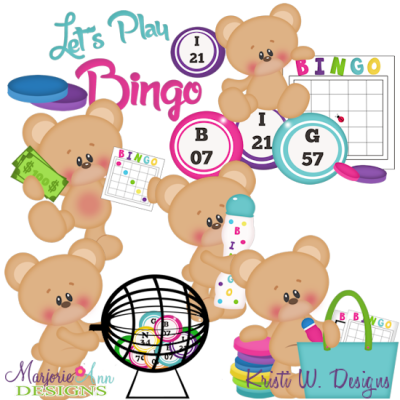 Let s play cutting. Bingo clipart svg