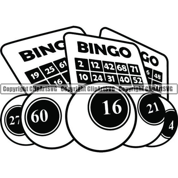 Bingo clipart svg. Card gambling gamble lottery