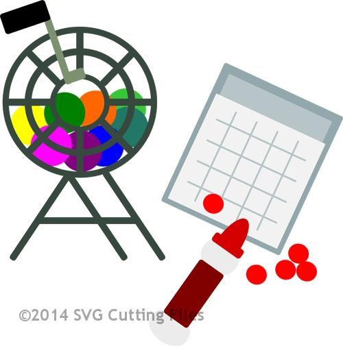 Bingo clipart svg. Night cutting file