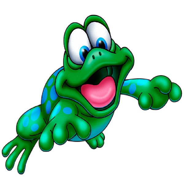 Funny frog cartoon animal. Frogs clipart body