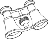 Search results for binoculars. Binocular clipart black and white