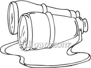 Simple binoculars royalty free. Binocular clipart black and white