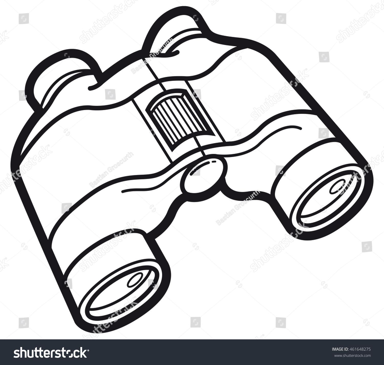 Binocular clipart black and white. Binoculars portal
