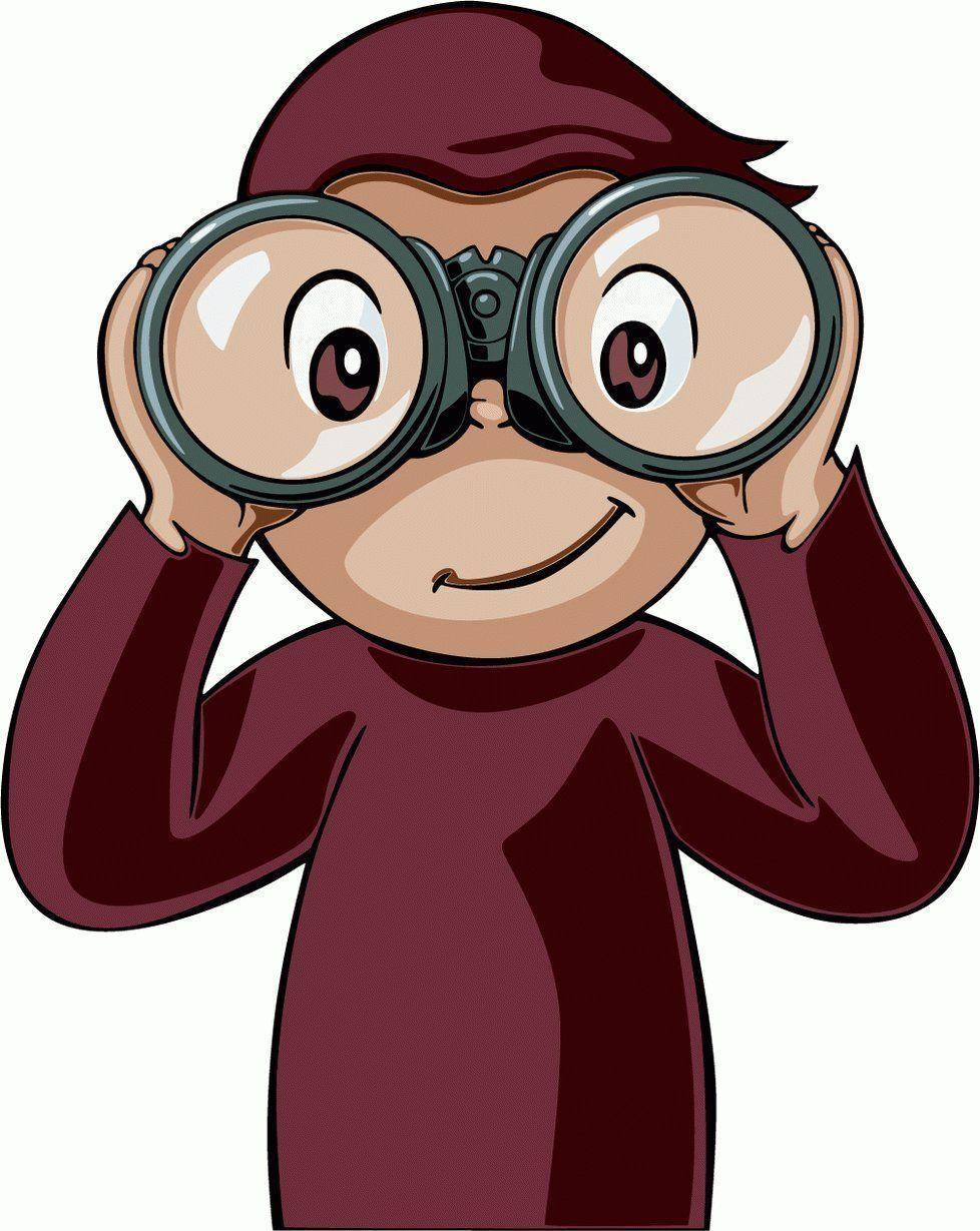 George binoculars google search. Binocular clipart curious person