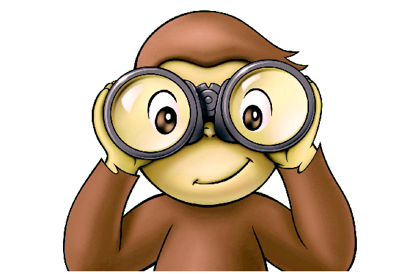 simple rules for. Binocular clipart curious person