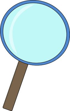 Binocular clipart detective. Hat and magnifying glass