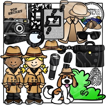 By teaching in the. Detective clipart kit