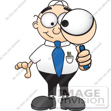 Person looking panda free. Binocular clipart inspector