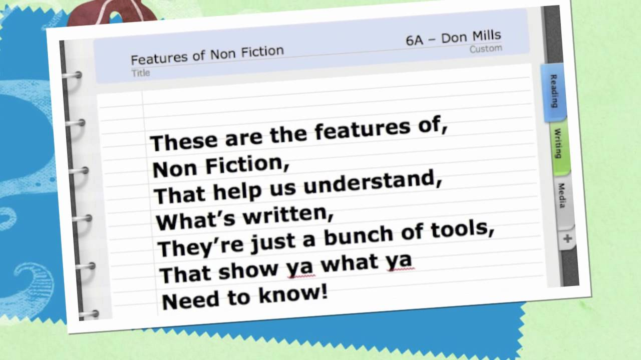 Copy of non fiction. Binocular clipart nonfiction text