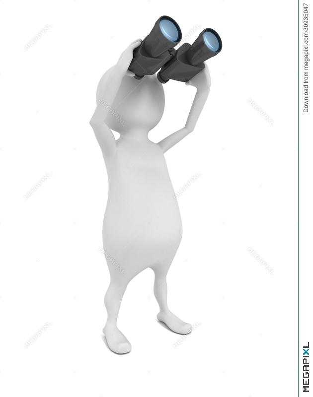 Binoculars clipart scrutiny.  d man looking