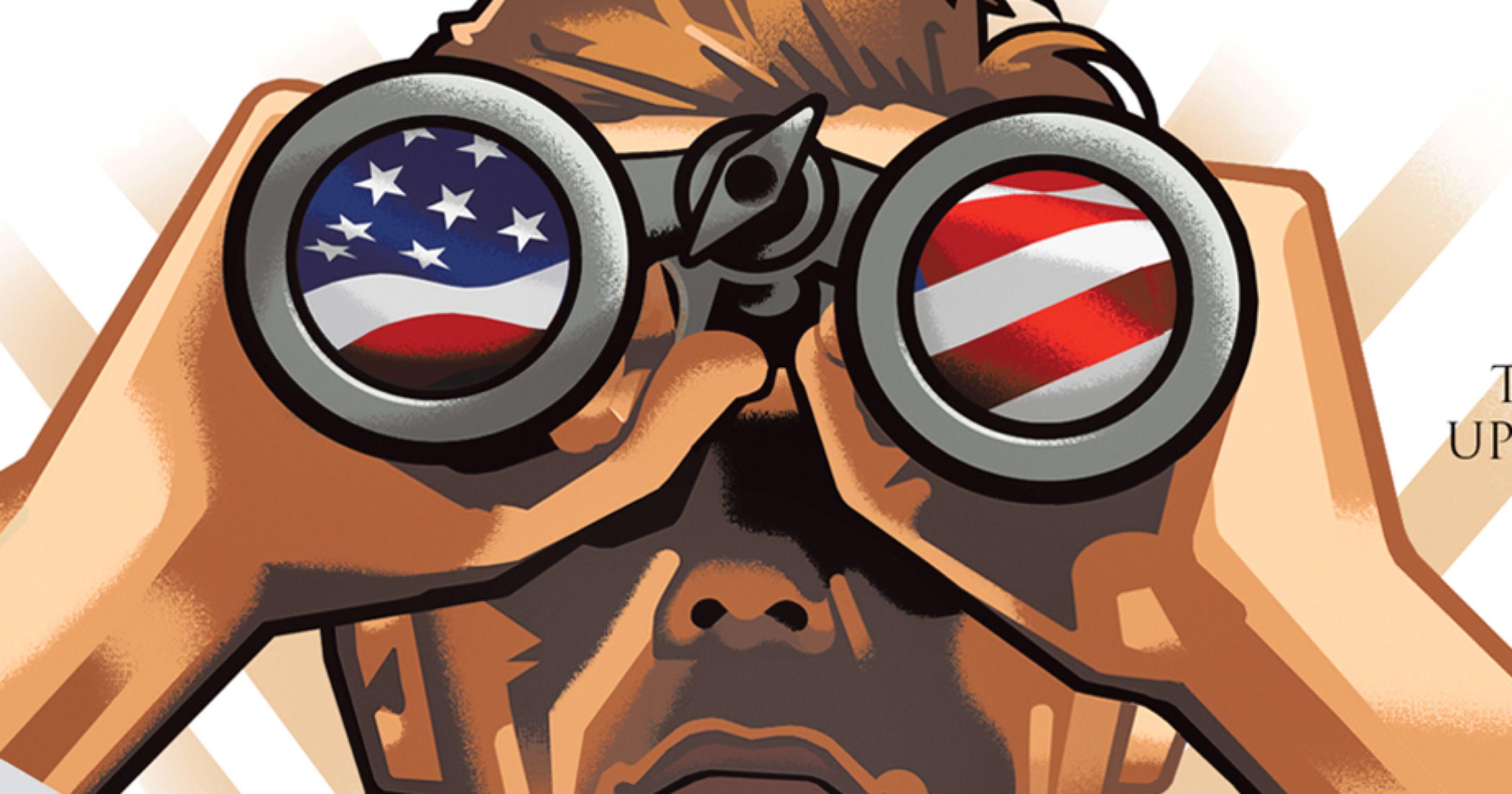 Binoculars clipart scrutiny. State of the race