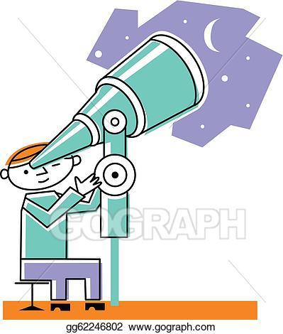 Binoculars clipart scrutiny. Drawing man looking at