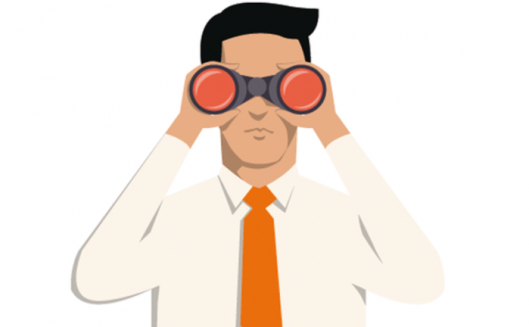 Last look orders come. Binoculars clipart scrutiny