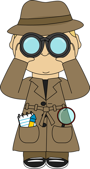 With binoculars this is. Detective clipart kit