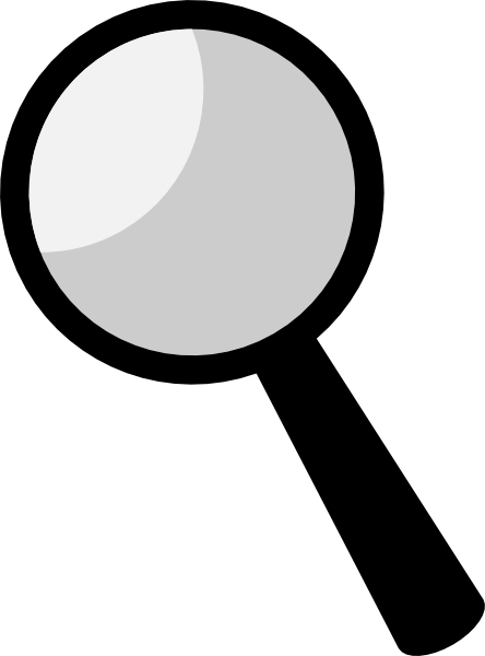 Magnifying glass vector png. Name in spy silhouette